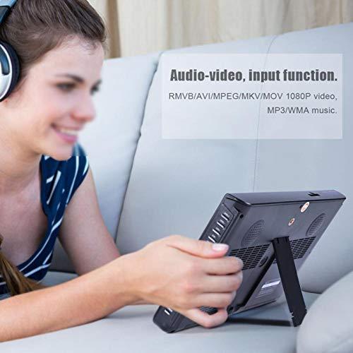 Gugxiom TV Digital, TV TV 10 Pulgadas Dos Altavoces Redondos De 32 Mm De Alta Sensibilidad para El HOGAR(Normativas Europeas)