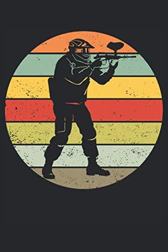 Paintball Spieler Retro Geschenk Notizbuch (Taschenbuch DIN A 5 Format Liniert): Paintball Vintage Design Notizbuch, Notizheft, Schreibheft, Tagebuch. ... Geschenk für Paintballspieler Herren Damen.