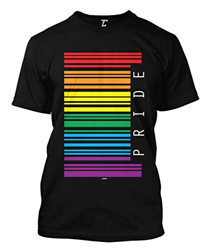 Gay Pride Barcode - LGBTQ Support Parade Men's T-Shirt (Black, X-Large)