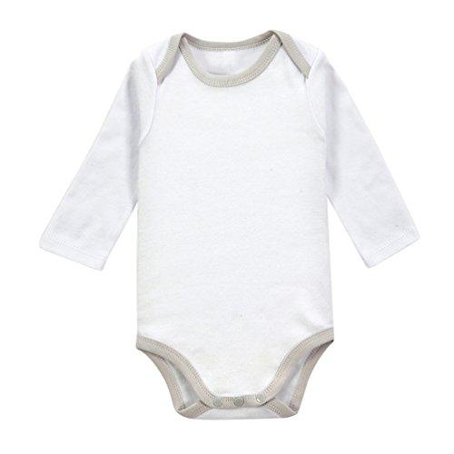 YOUJIA Unisexe Bébé Simple Bodys Mignon Manches Longues Romper Pyjama Gris 6-9M