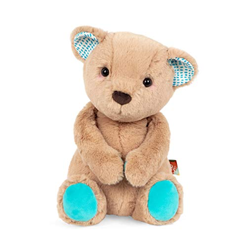 B. toys by Battat Happy Hues – Cara-Mellow Bear – Soft & Cuddly Plush Teddy Bear – Huggable Stuffed Animal Bear Toy – Washable – Newborns, Toddlers, Kids