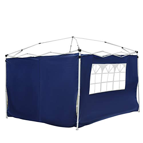 Outsunny 3 Meters Gazebo Replaceable Exchangeable Side Panel Wall Panels Walls With Window 3 colours (Blue)