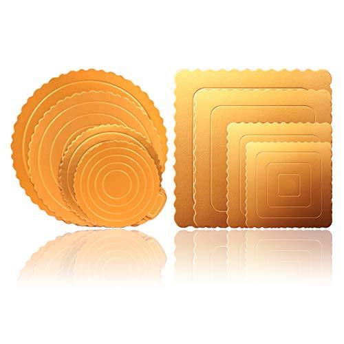 Tableros Redondos Para Tartas Base De Pastel Dorado Torta Bandeja De Visualización De Postres Bases De Cartón Para Tartas Bodas Práctico Y Conveniente Redondo Y Cuadrado 4 6 8 10 Pulgadas 8 Piezas
