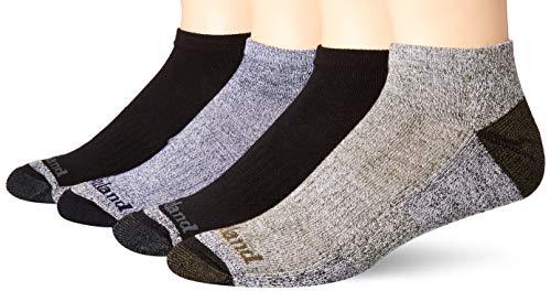 Timberland Herren 4-Pack Comfort No Show Socks Freizeitsocken, schwarz, Einheitsgröße