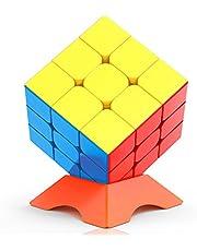 CACUSN スピードキューブ 競技用ver.2.0 立体パズル パズルスタンド付き 脳トレ プレゼント ステッカーレス …