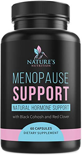 Menopause Supplements High Potency Hot Flash Aid 1256 mg | Estrogen Balance Support for Women | Made in USA | Natural Pills w/Black Cohosh, Dong Quai & Soy Isoflavones | 60 Capsules