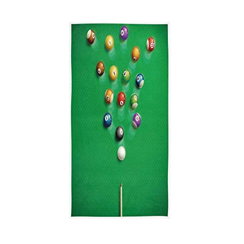 NBHBVGFC Toalla de mesa de billar, color verde, suave, para hotel, spa, gimnasio, deporte, 76,2 x 38,8 cm