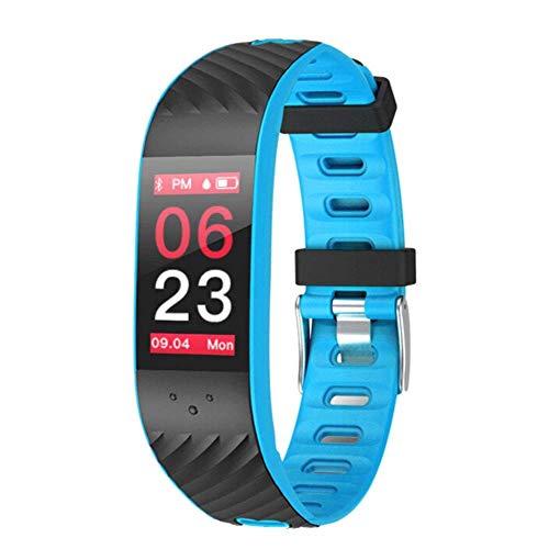 Fitness Trackers Montre intelligente avec moniteur de mesure de la fréquence cardiaque et de la pression artérielle, bracelet d'activité, podomètre Sommeil, Marche-Pied et Compteur de calories, # 7