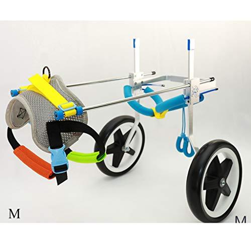 Silla de ruedas ajustable for perros, arnés de movilidad for perros, silla de ruedas con soporte trasero, carro de acero inoxidable ajustable Rehabilitación de patas traseras for mascotas con ruedas f