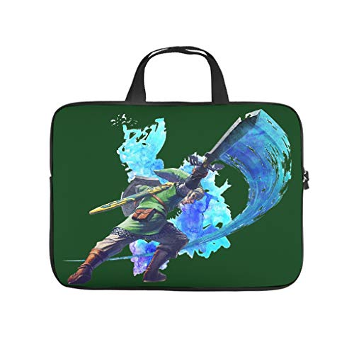the legend of zelda Laptop bag Pattern Laptop Case Bag Customized Anti-Scratch Laptop Sleeve with Portable Handle for Women Men white 10 zoll
