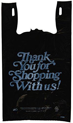 "1000ct Large 13 micron T-shirts Thank You Bags 11.5/"" X 6.25/"" X 21/"""