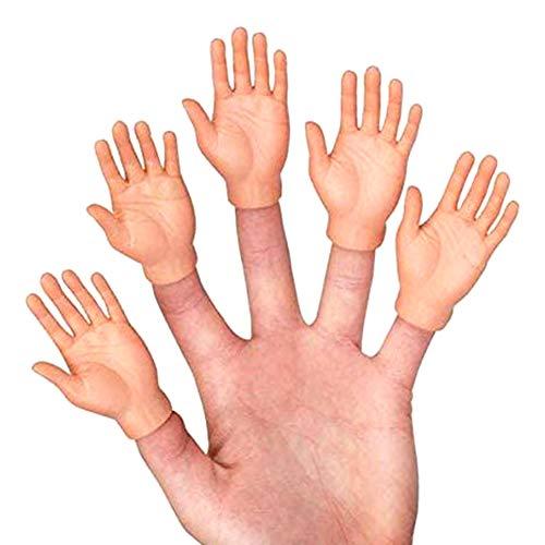 ISAKEN Tiny Hands Kleine Hände Fingerpuppen,Winzige Fingerhände Linke und Rechte Hand,Zaubertricks für Familie Freund Spiele Party Halloween,Mini Gummi Puppen Finger Hände Fingerpuppen,10 Pcs