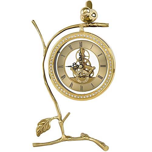 LPRWEC Gold Kreative Skulptur Kupfer Uhr Handgemachte Statue Home Wohnzimmer weinschrank Büro Dekor Schrank Handwerk Kunst Ornamente Retro Dekorative Skulptur Durable Skulptur Geschenk