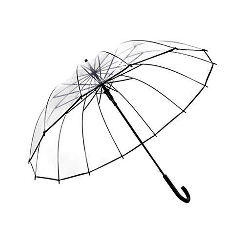 WNLBLB Paraguas Transparente Grueso Femenino japonés pequeño Personalidad Fresca Pareja Estudiante Creativo Masculino Paraguas de Mango Largo automático Transparente pequeño Paraguas Fresco Grueso