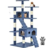 New Navy Blue 73' Cat Tree Scratcher Play House Condo Furniture Post Pet House
