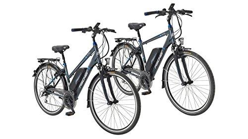 Fischer - Juego de 2 bicicletas eléctricas de trekking (1 x hombre,...