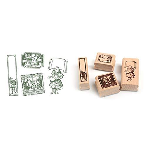 LessLIFE Craft Seal, Juego de Sellos de decoración Vintage Sellos de Goma de Madera DIY para Scrapbooking estándar-A1