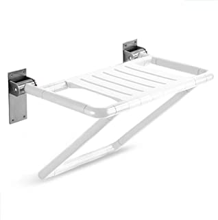 ZRL77y Shower Stool Folding Shower Seat Wall Mounted Bathroom Safety Stool Chair, Change Shoe Bench, for Disabled, Seniors...