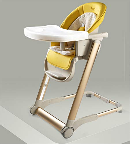 Review Of Plus Newborn Height Adjustable Highchair Foldable with 5 Point Harness Incl 2in1 Baby Boun...