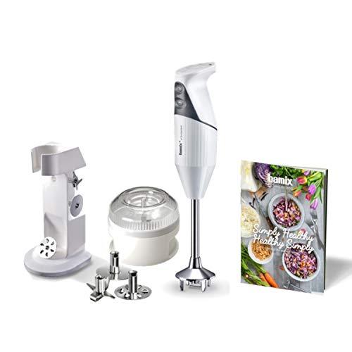 Coffret Bamix Healthy Mixeur plongeant 200W blanc, avec recettes veggie