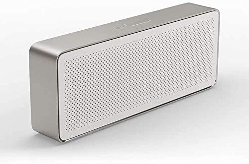 Mopoq Square Box Bluetooth Lautsprecher 2 Wireless Mini bewegliche im Freien beweglichen Wohnzimmer Heim Small-Stereo-Lautsprecher (Color : Weiß)