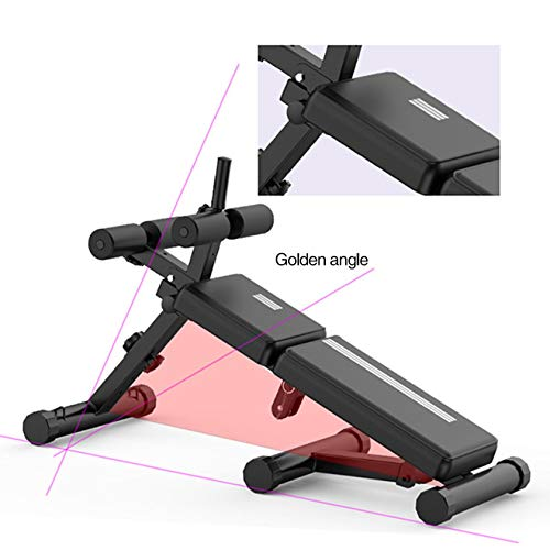 Fan-Ling Adjustable Bench,Utility Weight Bench for Full Body Workout- Multi-Purpose Foldable Incline/Decline Benchs, Multifunctional Home Gym Adjustable Weight Bench Foldable Workout Bench