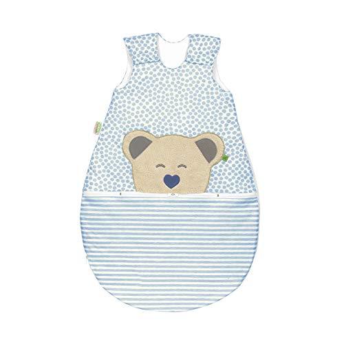 Odenwälder Jersey ganzjahres Schlafsack Mucki AIR 90cm stripes bleu | 1543-2106
