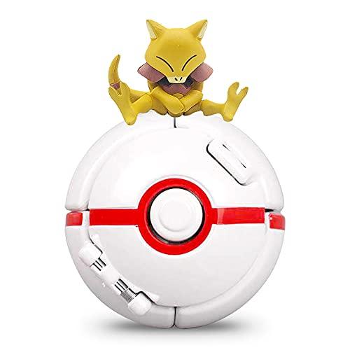 Hilloly Poké Bolas Pokéball Mini Pokemon Figuras Pikachu Cake Topper Figuras with Throw Pop Poké Ball Figura de Pikachu para Niños y Adultos Fiestas Juego de Juguete de Regalo