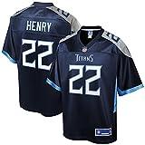 NFL PRO LINE Men's Derrick Henry Navy Tennessee Titans Logo Player Jersey
