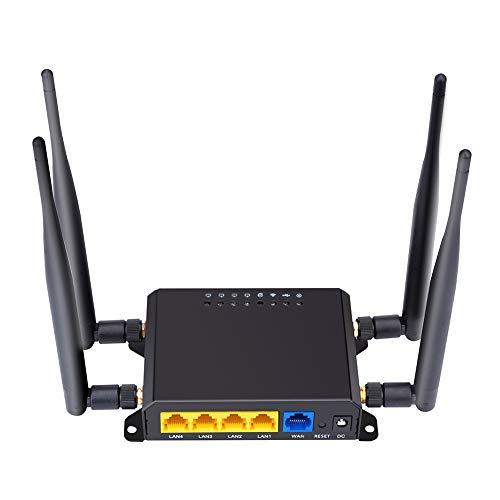 Router 4G   LTE da 300 Mbps, Router per Antenna Esterna Wireless Extender Router OpenWRT con Segnale Forte con Porta USB Slot per Scheda SIM 4pcs5dbi Antenna Band 10, Supporto Europa Asia Africa