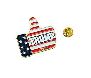 UNiQ Designs Donald Trump Man Lapel Pin American Flag Lapel Pin USA Pin American Flag Pin for Suit-Donald Trump Pins and Buttons 2020 MAGA Lapel Pin Trump 2020 Pin Keep America Great MAGA Pin  1 PCK