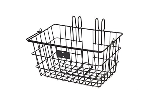 Retrospec Detachable Steel Apollo-Lite Lift-Off Front Bike Basket with Handles, Black