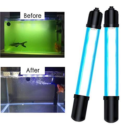 MYOTERILIZER Aquarium UV Lampen Leuchtmittel Sterilisator Beleuchtung 18-24CM Sterilisation Lampe Wasser Pflanze Licht Wasserdicht Clip Auf Lampe Zum Aquarium Schwimmen Schwimmbad,13w