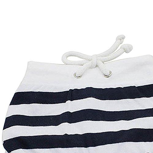 Generic Réutilisable Culotte Hygiénique Pantalon Court Sanitaire pour Animal Chien Femelle - Rayures Noir Blanc , XL