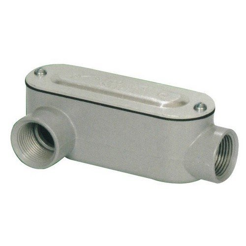 Morris 14093 Rigid Conduit Body, Aluminum, Type LR, Threaded with Cover and Gasket, 1-1/4 Thread Size by Morris