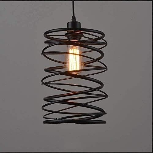 Metal industriële hanglampen Vintage smeedijzeren hanglamp office cafe studie hal gang kroonluchters zwart
