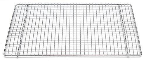 "Professional Cross Wire Cooling Rack Half Sheet Pan Grate - 16-1/2"" x 12"" Drip Screen 2 Pack"
