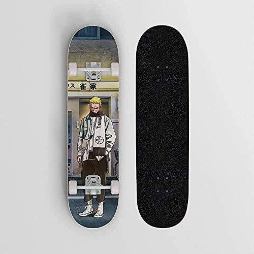 Nixi888 Einteiler Donquixote Doflamingo Modern Trend Anime Skateboard Skateboard Deck 7 Schicht Off Road Bamboo Deck Longboard Board Erwachsene Skateboard