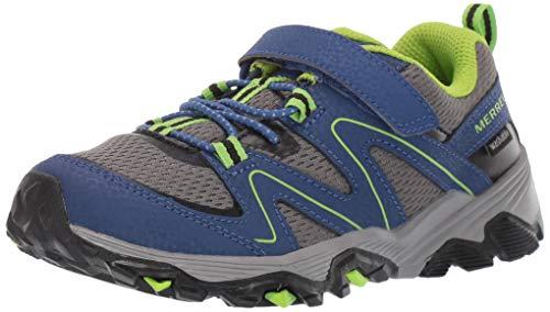 Merrell Unisex-Kid's Trail Quest shoes, Blue/Green, 9.5 X-Wide Little