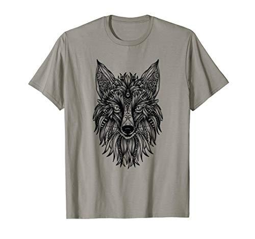 Fuchs Yoga Mandala Ganesha Chakra Tribal Damen Top Kleidung T-Shirt