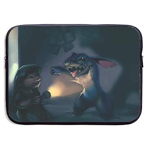 Cartoon Lilo Stitch Laptop Sleeve Bag Tablet Briefcase Ultraportable Protective Cover Neoprene 15 inch