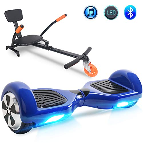 """Windgoo Hoverboard 6.5"""" Bluetooth Balance Board Patinete Eléctrico Scooter Talla LED 250W*2 (BL-Azul)"""