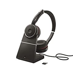 WORLD CLASS PERFORMANCE – HD voice combined with world-class speakers allow the Jabra Evolve Wireless Headset to deliver outstanding audio with crystal-clear clarity for your calls and music, whether you need to collaborate or concentrate during your...