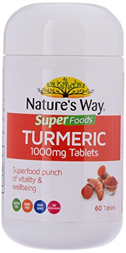 Nature's Way Super Foods Turmeric Tablets, 1000mg, 0.1 Kilograms