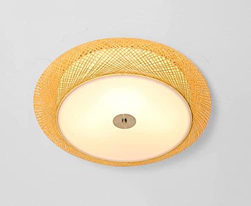 KMILE Techo Luz LED Cuarto de baño Dormitorio Dormitorio Lámpara de Techo de Rattan, Lámpara de Techo Simple para Sala de Estar, Dormitorio, Restaurante (Color : L)