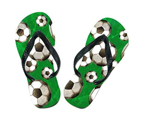 S.B.J - Sportland Flip Flops Fußball - Schuhe/Slipper Badeschuhe Flip-Flop Badelatschen Badeschlappen Sandale Zehentrenner, Gr. 42-44