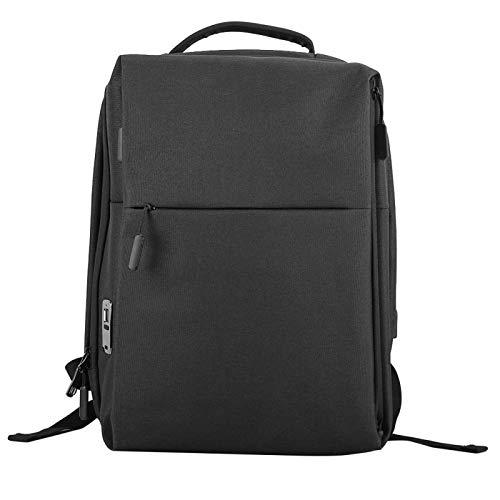 Portable smart USB charging backpack, backpack with fingerprint lock and adjustable shoulder straps, anti-theft laptop bag, fits 15.6 inch laptop