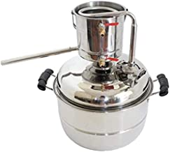 10L Alcohol Distiller Home Brewing Kit Stainless&Copper Cooling Home Wine Making Moonshine Still Water Distillation Brew F...