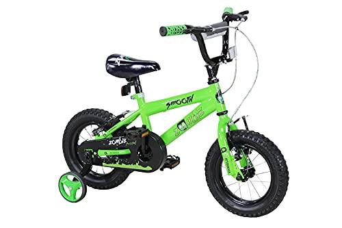Actionbikes Kinderfahrrad Zombie - 12 Zoll - V-Break Bremse vorne - Stützräder - Luftbereifung - Ab 2-5 Jahren - Jungen & Mädchen - Kinder Fahrrad - Laufrad - BMX - Kinderrad (12`Zoll)