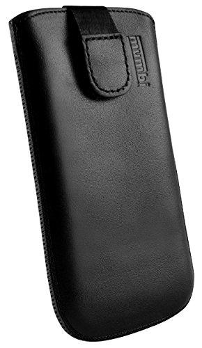 mumbi Echt Ledertasche kompatibel mit Sony Xperia Z1 Hülle Leder Tasche Hülle Wallet, schwarz